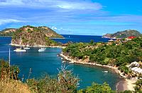 French Caribbean _ Caribbean Islands _ Les Saintes _ Terre de Haut _ The Sugar Loaf and Pretty Wood