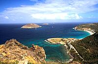French Caribbean _ Caribbean Islands _ Saint Barthelemy _ Petite Anse _ Anse des Flamands _ Chevreau Islet _ Fregate and Toc