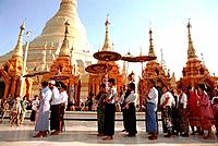 Myanmar _ Yangon _ Shwedagon Pagoda _ Ordination Ceremony