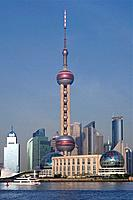 Pudong, New Area, Oriental Pearl Tower, Shanghai, China, Asia