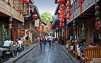 Liu Bei Street, Chengdu, Sichuan Province, China, Asia