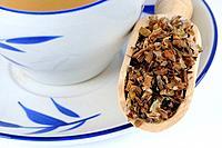 Cup of Common Selfheal Fruit_Spike tea, Prunellae Spica, Xia Ku Cao