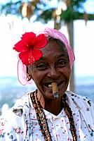 Cuba _ Oriente _ Holguin _ Old Woman with Cigar