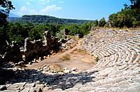 Turkey _ Mediterranean Coast _ Antalya Region _ Phaselis Old Site _ West Coast _ Kemer