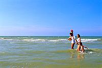 Beach _ Family in the Sea