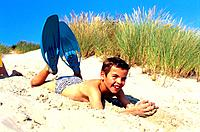 Beach _ Young Boy in The Dune