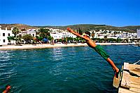Turkey _ Mediterranean Coast _ Mugla Region _ Bodrum _ View of the Beach