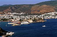 Turkey _ Mediterranean Coast _ Mugla Region _ Bodrum _ Marina,Harbour and St Peter Castle