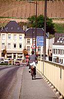 Luxembourg _ Bridge over Moselle river _ Schengen