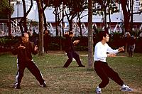 Hong-Kong - Victoria park - Tai Chi (thumbnail)