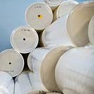 Rolls of Paper in Warehouse