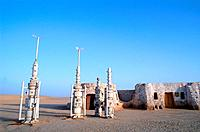 Tunisia _ The South _ Chott el Jerid Region _ Nefta surroundings _ Onk Jemel site _ film scenery _ Starwars