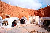 Tunisia _ The South _ Jebel Dahar Region _ Matmata _ Sidi Driss Troglodytic Hotel _ Film scenery _ Starwars
