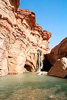 Tunisia _ The South _ Chott el Jerid Region _ Montain Oasis _ Tozeur Region _ Tamerza Oasis _ The Grand Cascade