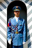 Czech Republic - Prague - Hradcany Prague 1 District - The Royal Palace - The royal guard (thumbnail)
