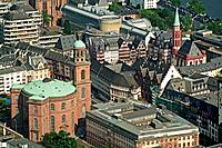 Germany, Frankfurt am Main, Hesse, city view, St. Paul´s Church