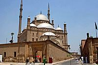 The landmark Mohammed Ali mosque Alabaster mosque on top of Saladin Al Aywbi citadel in Cairo, Egypt