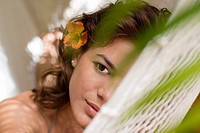 Young woman on hammock (thumbnail)