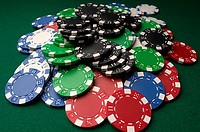 Pile of gambling chips