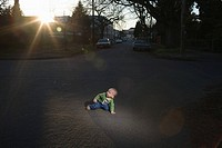 Baby in the road