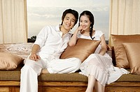 Young Korean Couple Relaxing