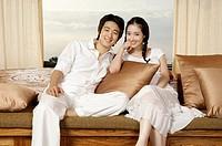 Young Korean Couple Relaxing