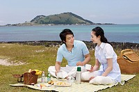 Young Couple Enjoying Picnic,Korea