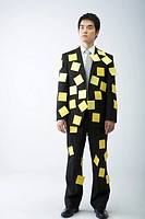 Businessman Wearing Sticky Notes,Korea