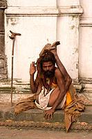A Hindu Holy Man in Kathmandu Nepal