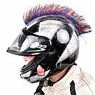quod biker with helmet
