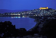 Molyvos, medieval castle view, Greece: N E  Aegean, Lesvos