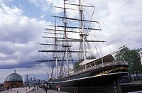 The last surviving tea-clipper restored to its former glory, Cutty Sark Gardens, Greenwich , London, Great Britain, Europe
