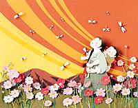 Paper Illustration,Korean Costume,Family