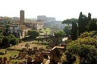 Italy, Rome, forum Romanum, overview,