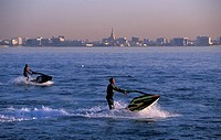 Doha Bay, Jet-ski, Doha, Qatar, Middle East