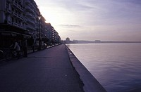 View of Port, White Tower, Greece:Central Macedonia:Thessaloniki