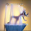 Woman slipping in shower