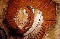Circular stairway in Torre dei Lamberti. Verona. Italy
