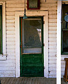 Ranch door at old homestead. Paradise Valley. Humboldt County. Nevada. USA