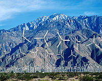 Wind turbines. Palm Springs. CA. USA