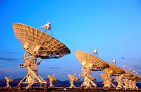 Radio Telescopes VLA (Very Large Array). New Mexico. USA