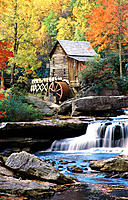Glade Creek Grist Mill. Babcock State Park. West Virginia. USA