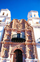 Mission San Xavier del Bac (aka White Dove of the Desert). Tucson. Arizona. USA