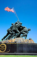 U.S. Marine Corps War Memorial. Arlington National Cemetery. Virginia. USA