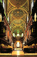 Westminster cathedral nave. London. UK