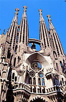 Sagrada Familia (Church of the Holy Family), by Gaudí. Barcelona. Spain