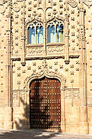 Palacio de Jabalquinto built 16th century, facade detail. Baeza. Jaen province. Andalusia, Spain