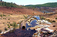 Tinto river, Riotinto mines. Huelva province, Andalusia. Spain
