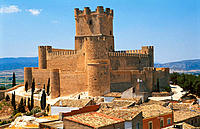 Castle at Villena. Alicante province, Comunidad Valenciana. Spain