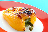 Grilled yellow pepper